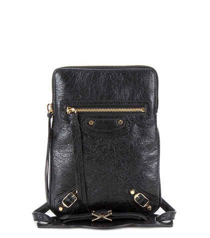 Classic Phone Holder Leather Shoulder Bag
