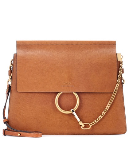 Faye leather shoulder bag