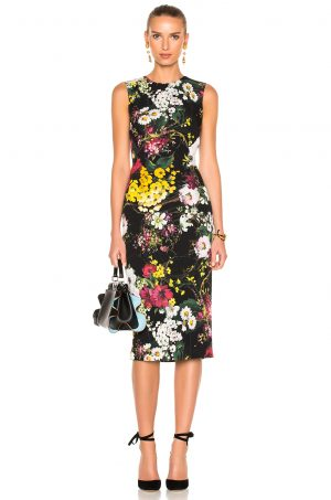 DOLCE & GABBANA - Strapless Printed Midi Dress