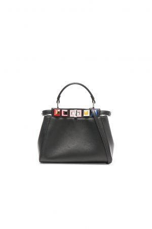 FENDI - Shatoosh Leather Multicolor Stud Mini Peekaboo