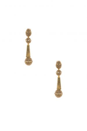 OSCAR DE LA RENTA - Beaded Drop Earring