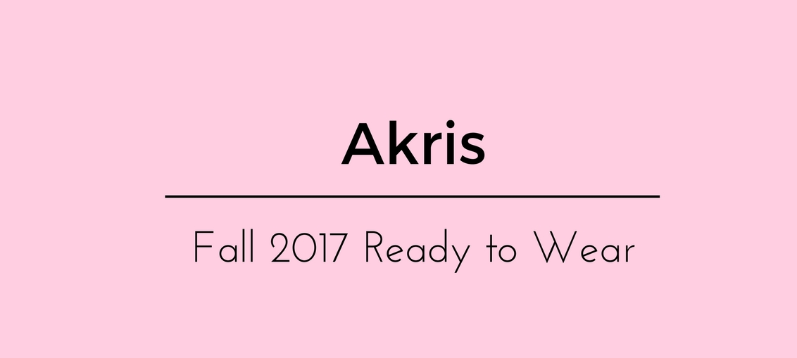 Akris Fall 2017 Ready to Wear