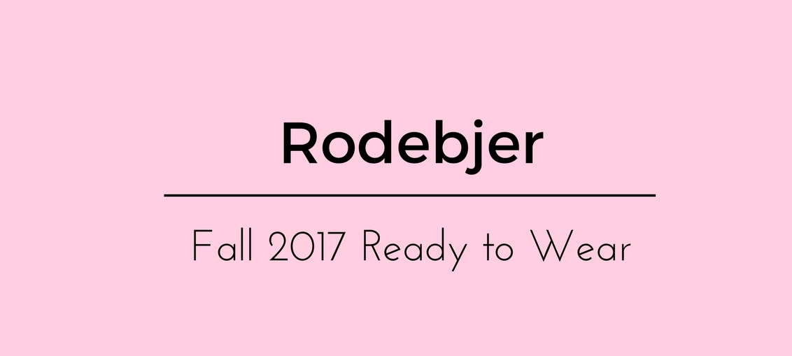 Rodebjer Fall 2017 Ready to Wear