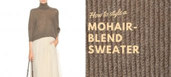 How to style a Mohair-blend sweater