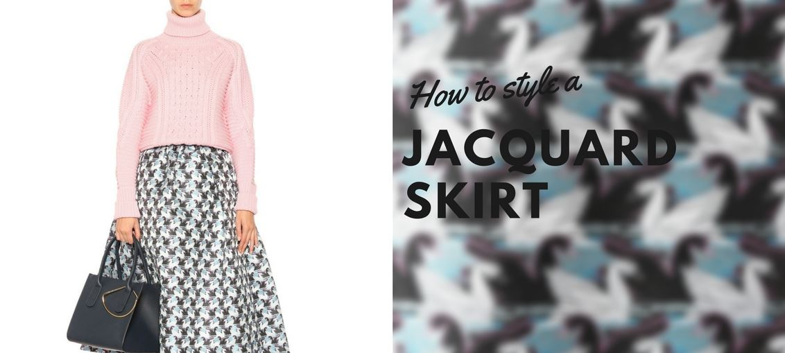 How to style a jacquard skirt