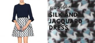 How to style a silk and jacquard dress