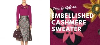 How to Style an embellished cashmere sweater - for the modern businesswoman