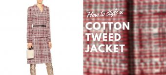 How to style a cotton tweed jacket - for the modern businesswoman