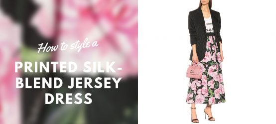 How to style a Floral cotton poplin skirt?